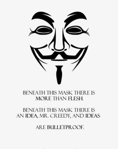 V For Vendetta bullet proof. I called it. Shots fired on capitol hill. And he disagreed d: .