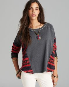Free People Pullover - Jess's French Terry Beautiful Sinner | Bloomingdale's