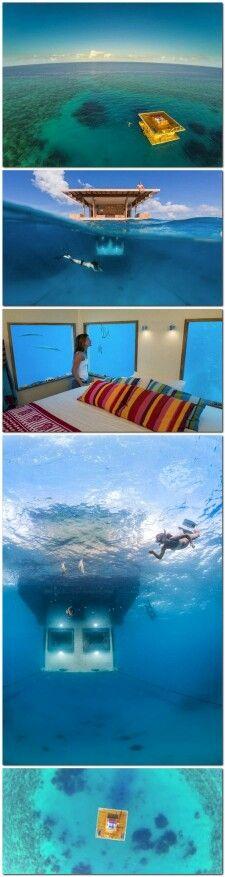 Manta Underwater Hotel Room, Zanzibar