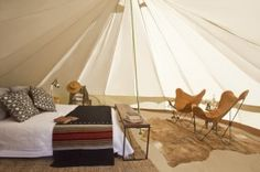 This is happening! Luxury Tents: Sleeps 2 adults Full bed with real mattress 400 thread count bedding Down comforter and pillows Wool Pendleton Blanket Bedside tables Lounge seating Area rugs Lighting See more at: http://shelter-co.com/tenting/#sthash.QK76MxK4.dpuf