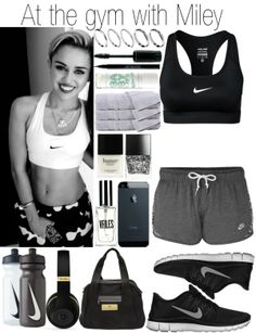 """""""At the gym with Miley"""" by fashion-onedirection on Polyvore"""
