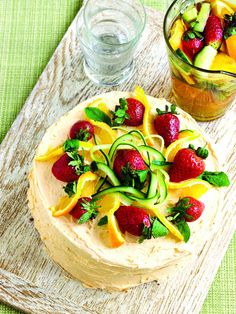 This stunning Pimm's layer cake from Luisa Zissman's Wicked Cupcakes contains delicate layers of ginger ale and Pimm's-scented sponge filled with four different Pimm's-inspired buttercreams and topped with fresh fruit. It's one of the best summery cakes we know.