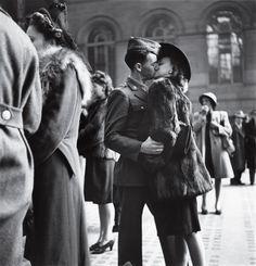 Word War II. 1944. Couple.