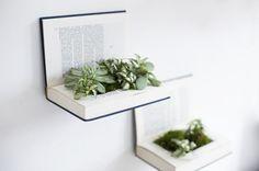 [ DIY ] Recycler des livres en étagères végétales- La Délicate Parenthèse