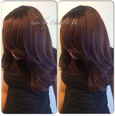 VERSATILE SEW-IN© hair weave by Natalie B. @icartistry (708) 675-9351...order your hair online at www.naturalgirlhair.com.