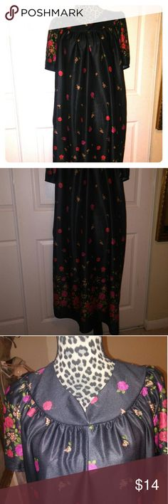 New listing house dress Flower house dress with two side pockets very pretty neck line front and back never wear material 100% polyester made right here in the usa Dresses Asymmetrical