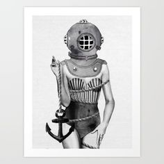 Buy Sunken  Art Print by Jenny Liz Rome. Worldwide shipping available at Society6.com. Just one of millions of high quality products available.