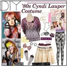 """DIY: '80s Cyndi Lauper Costume"" by sweet-jolly-ranchers on Polyvore"