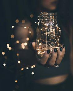 #fairy #light #jar