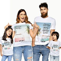 Matching Family T-Shirts, Matching Family Outfit, Graphic Tees, Funny Saying Shirts, Twinning Outfit, Matching Summer Outfit, Matching Tees Summer Family Pictures, Cute Couple Pictures, Couple Pics, Family Photos, Matching Family T Shirts, Matching Outfits, Camper, Tees Graphiques, Family Vacation Shirts