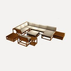 Products Description Maya 10pc Teak Conversation Sofa Set Another signature design from Westminster, the streamlined Maya Teak Modular Furniture conversation set consists of 10 select pieces from our Maya Collection.