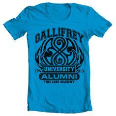Women's Doctor Who tee - Gallifrey University. Women's Doctor Who shirt. $19.95. http://aftcra.com/item/900