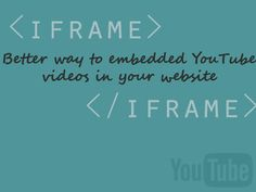 Only after you read this post you realised, it was a mistake to simply embed the YT on your website, When you could have done more than that.  http://receivetipstricks.com/embed-youtube-videos/