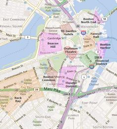 Map Of Downtown Boston Hotels
