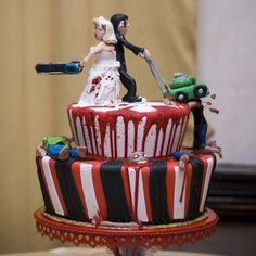 Zombie wedding cake lol