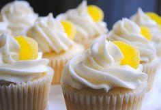 Lemon Trifecta, YUM!!!! Triple Lemon Cupcakes -- lemon cake, curd & cream cheese icing! via Homemade by Holman