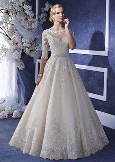 Sexy Long lebanon Half Sleeve Muslim Islamic Lace A Line Wedding Dresses 2015 Wedding Gowns robe de mariage gelinlik