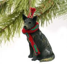 Australian cattle dog blue christmas ornament #holiday xmas #figurine #scarf gift,  View more on the LINK: http://www.zeppy.io/product/gb/2/291623616819/