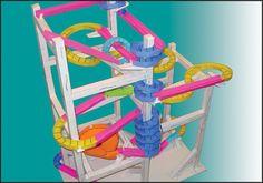 Paper roller coaster template - STEM