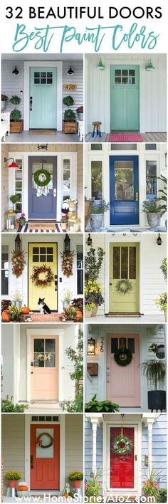 32 Beautiful Paint Colors for Your Door - Home Stories A to Z Wooden Front Doors, Painted Doors, Craftsman Front Doors, Painted Front Doors, House Exterior, Front Door, Farmhouse Front Door, Beautiful Doors, House Colors