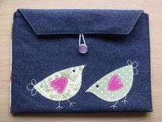 Freehand Machine Embroidery Denim & Cotton iPad Air & 2 Case, Sleeve, Pouch £12.99