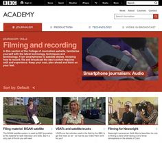 News Shooter | BBC College of Journalism shares free training resources to the world