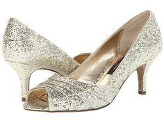 "Nina Coralie Platino, Gold or Silver - 6pm.com, 2.25 "" heel"