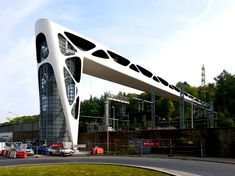 Beautiful Esch-sur-Alzette Footbridge Leads Pedestrians out of Chaotic Traffic and into a Peaceful Green Park | Inhabitat - Green Design, Innovation, Architecture, Green Building