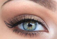 Idea di trucco per occhi verdi