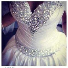Think I found what I want my wedding dress top to look like! Bling Wedding, Wedding Bells, Wedding Events, Our Wedding, Glitter Wedding, Wedding White, Trendy Wedding, Wedding Stuff, Dream Wedding Dresses