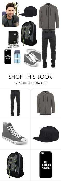 """""""Guys outfit"""" by gracedudich ❤ liked on Polyvore featuring Balmain, BOSS Black, Converse, Burton, Champion, Casetify, Adam Levine, women's clothing, women's fashion and women"""