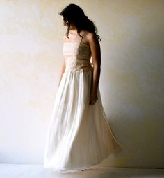 Boho Wedding Dress Alternative Wedding Dress Lace by LoreTree