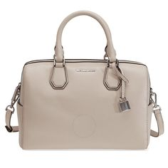 a469ce51b42de Michael Kors Mercer Pebbled Leather Duffle Bag - Cement - Michael Kors  Handbags - Handbags -