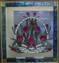 stained glass | glass piece, painted with gallery glass (also known as faux stained ...