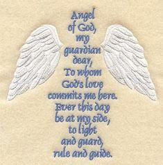 Guardian Angel Prayer ...  'On a wing -n- a prayer'