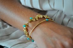 delicate gold and turquoise...my three favorite things