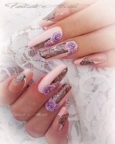 Fingernail Designs, Diy Nail Designs, Gel Nail Art, Fabulous Nails, Gorgeous Nails, Pretty Nails, Fancy Nails, Bling Nails, Nailart