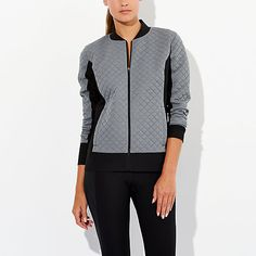 Hit the gym in style with this cozy jacket. The sexy style lines and sonic quilted fabric will give you that extra va-voom to stay ahead of the pack. After Class Insulated Jacket   lucy activewear Work it Out / Wear it Out