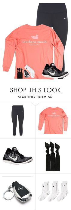 """""""Hi!"""" by lacrosse-19 ❤ liked on Polyvore featuring NIKE, Emi-Jay and Mercedes-Benz"""