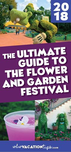 The 2018 Epcot International Flower & Garden Festival runs from February 28 to May 28, 2018, at Walt Disney World. This guide covers our tips & tricks for experiencing everything Epcot\'s Flower and Garden Festival has to offer. #wdw #epcotfestival #epcotflowerandgarden #2018epcotflowerandgardenfestival