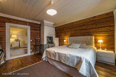 master bedroom in Old Porvoo Home Bedroom, Master Bedroom, Bedrooms, Scandinavian Cottage, Log Homes, Home And Living, Interior Inspiration, House, Bedtime