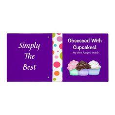 Cupcakes+Binder+/Recipe++Book