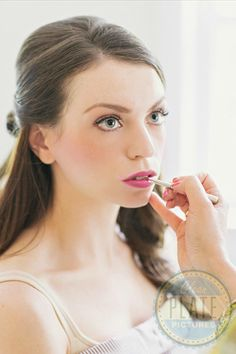 Classic beauties can never go wrong with matte neutral shadow, defined upswept eyeliner, and rosy blush and lipstick.