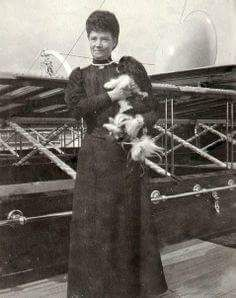 "The Dowager Empress Marie Feodorovna of Russia with her terrier in 1912.  ""AL"""
