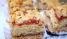 ces biscuits sablés carrés à la confiture de figues oranges sont une variante du gateau algerien mderbel. C'est fondant, parfumé, les atouts d'un bon gâteau