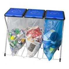 recycle bins for home | Home Recycling Station- Smart Sort 3