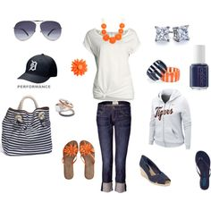 Detroit Tigers Gameday!, created by sweetiedarlling on Polyvore