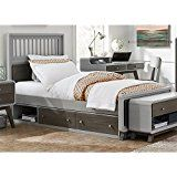 NE Kids East End Twin Spindle Storage Bed in Gray deals week