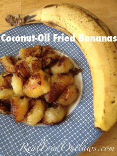 coconut oil fried bananas