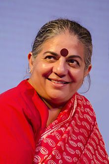 Vandana Shiva -- Eco Activist. Heard her on NPR today and want to follow up and read more about her. She's amazing.
